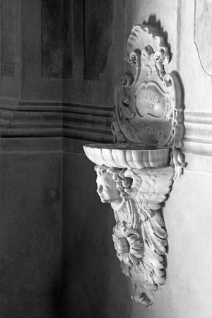 chiesa: BRESCIA, ITALY - MAY 21, 2016: The baroque stoup in Chiesa di Santa Maria della Carita. Editorial
