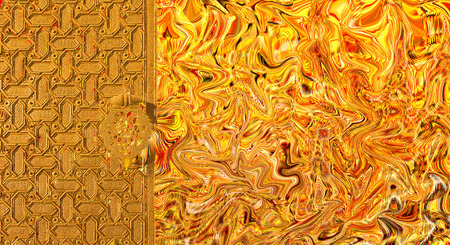 abstract digital art background - and mudejar gate