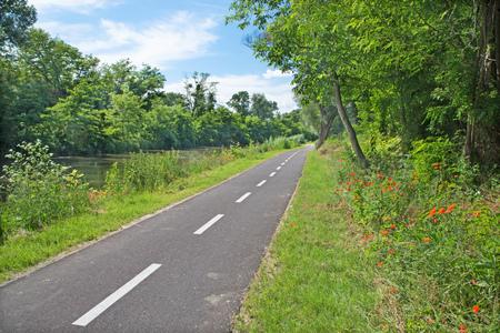 bikeway: The bike way alongside the river in Bernolakovo.