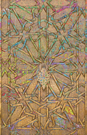 back gate: Abstract moorish background - mudejar gate