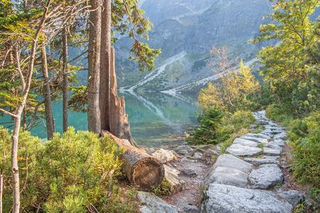 morskie: High Tatras - Tourist way round of Morskie Oko lake