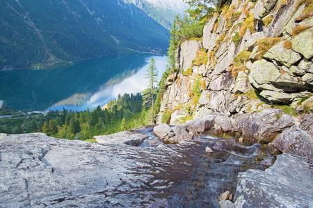 morskie: High Tatras - Morskie Oko lake Stock Photo
