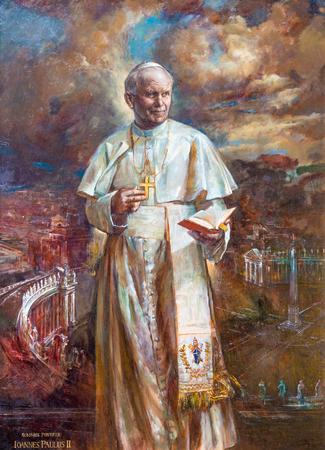 Rom, Italien - 9. März 2016: Die Farbe von St. Johannes Paul II. in der Kirche Basilica di Santa Maria del Popolo von Natalia Tsarkova 2006.