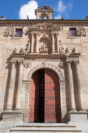 SALAMANCA, SPAIN, APRIL - 17, 2016: The renaissance - baroqua (plateresque) portal of church Iglesia de San Marin (1586). Editorial