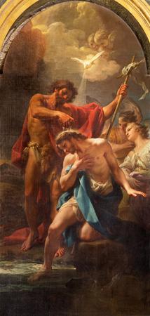 ROMA, ITALIA - 12 marzo 2016: Il Battesimo paintin di Cristo nella Chiesa Chiesa di Santa Maria dell Orto da Corrado Giaquinto (1750).