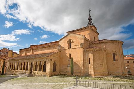 Segovia - The Ronanesque church Iglesia de San Millan.
