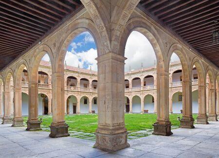SALAMANCA, SPAIN, APRIL - 17, 2016: The atrium of Colegio Arzobispo Fonseca. Editorial