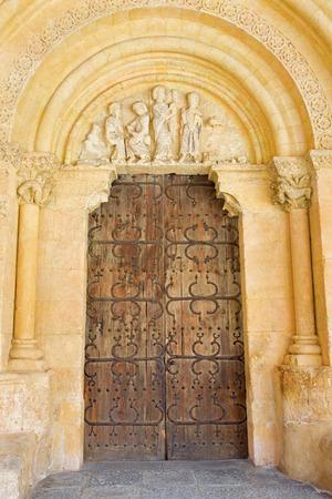 millan: Segovia - The portal of Ronanesque church Iglesia de San Millan.