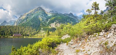 tatry: High Tatras - Panorama of the lake