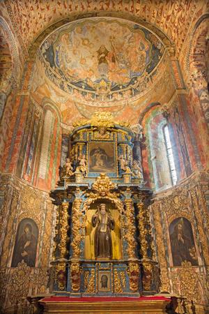 AVILA, SPAIN, APRIL - 19, 2016: The baroque side altar os St. Benedict of Nursia in church Basilica de San Vicente and chapel in style arenisca sangrante.