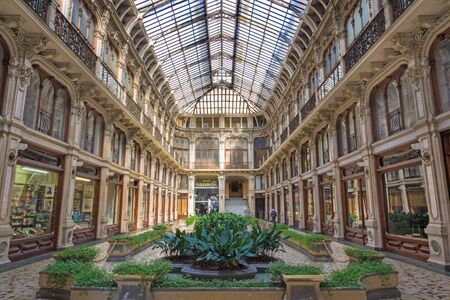 TURIN, ITALY - MARCH 14, 2017: The Galleria Subalpina.