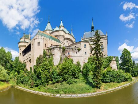 Bojnice - One of the most beautiful castles in Slovakia. 스톡 콘텐츠