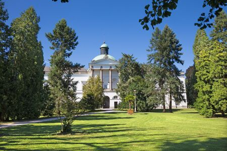 Topolcianky - The castle and park. Stock Photo