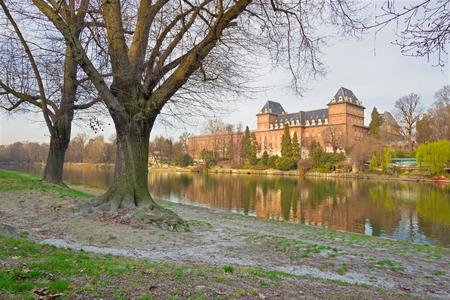 Turin - The Castello del Valentino palace in morning light. Editorial