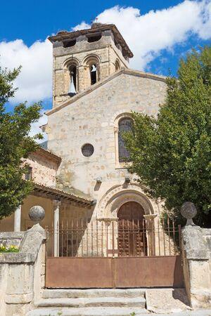 Segovia - The Romanesque church Iglesia de los Santos justo y Pastor. Stock Photo