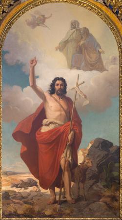 トリノ, イタリア - 2017 年 3 月 13 日: ロドルフォ ・ Morgari (1862 年) に大教会堂に洗礼者ヨハネの絵画。