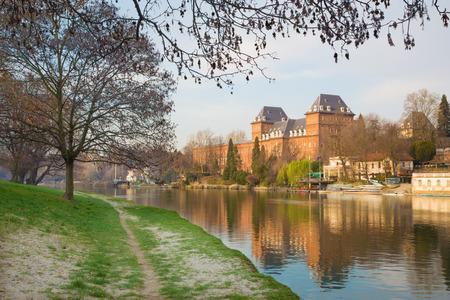 po: Turin - The Castello del Valentino palace in morning light. Editorial