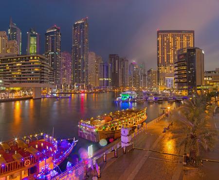 skyscraper, tower, business, shipping, waterfront, gulf, marina, luxury, skyline, light, ship, evening, dusk, building, canal, modern, high, city, emirates, dubai, hotels, tourism, sea, bridge, arabic, promenade, united arabian emirates