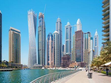 DUBAI, UAE - MARCH 31, 2017: The promenade of Marina. Editorial