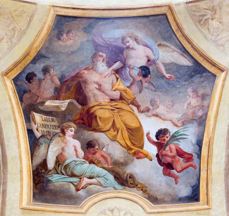 TURIN, ITALY - MARCH 13, 2017: The fresco of St.Matthew the Evangelist in church Chiesa di San Lorenzo by Carlo Felice (1827).