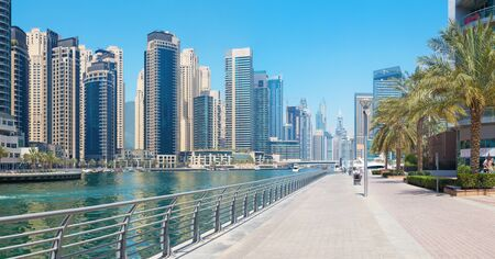 DUBAI, UAE - APRIL 1, 2017: The Marina promenade.