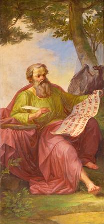 トリノ, イタリア - 2017 年 3 月 13 日: 聖ヨハネのフレスコ画やサン ジョヴァンニ バティスタと聖マッシモとアントニオのチャペル福音伝道者ロドル
