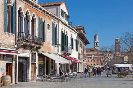 venice: VENICE, ITALY - MARCH 12, 2014: Campo Francesco Moresini square.