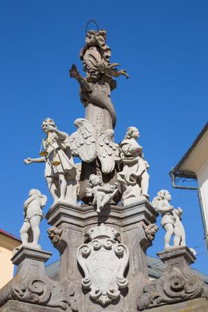 Banska Stiavnica -  The baroque column of Immaculata by Dioniz Ignac Staneti (1663 – 1725).