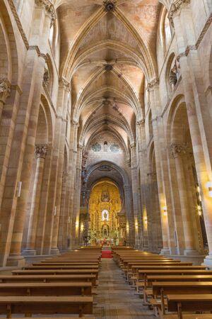 AVILA, SPAIN, APRIL - 19, 2016: The nave of Basilica de San Vicente