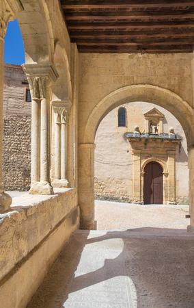 millan: Segovia - The portico of Romanesque church Iglesia de la Santisima Trinidad.