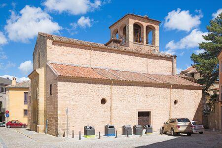 millan: Segovia - The Romanesque church Iglesia de San Sebastian. Stock Photo