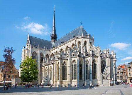 LEUVEN - SEPTEMBER 3: Peters gotische kathedraal van Zuid-Oost in Sepetember 3, 2013 in Leuven, België.
