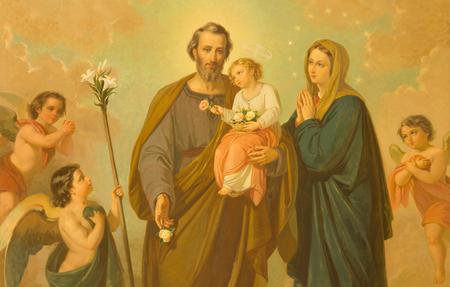 ローマ, イタリア - 2016 年 3 月 10 日: 聖家族教会サンタ・マリア 20 の不明なアーティストによる扶助者聖マリアの絵画。セント。