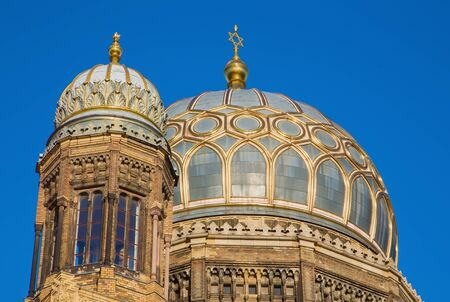 Berlin - The cupolas of the synagogue.