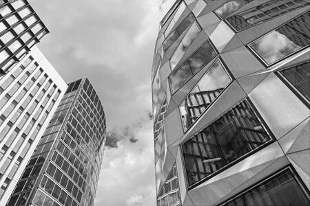 London - The modern facades from center of the city. Stock Photo