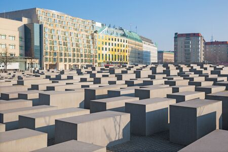 BERLIN, GERMANY, FEBRUARY - 13, 2017: The memorial of Holocaust.