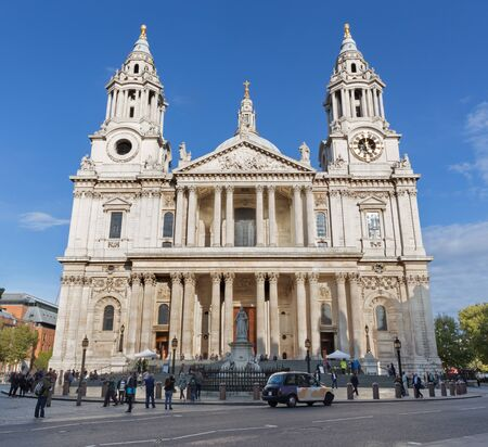 LONDON, GREAT BRITAIN - SEPTEMBER 14, 2017: Sst. Paul cathedral - west facade