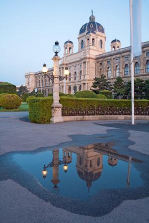 Vienna - Nature history museum (Naturhistorisches museum) in morning. Editorial