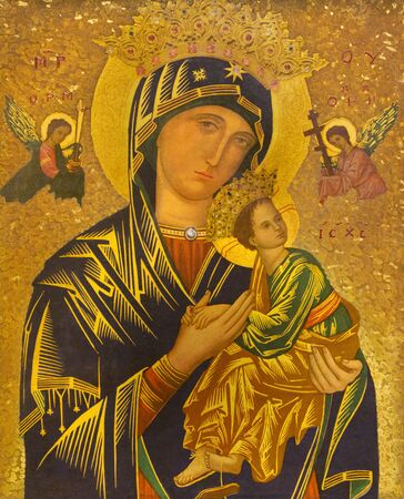 LONDON, GREAT BRITAIN - SEPTEMBER 17, 2017:  The icon of Madonna with the child in church St. James Spanish Place. 報道画像