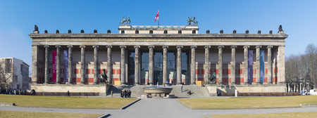 tourist, classicism, travel, history, europe, architecture, berlin, building, city, classical, column, dusk, facade, germany, landmark, monument, museum, panorama, town, altes museum Editorial