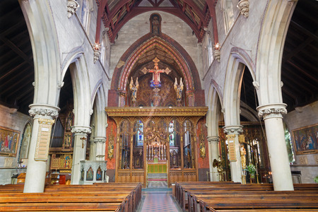LONDON, GREAT BRITAIN - SEPTEMBER 17, 2017: The nave of church St. Barnabas, Pimlico.