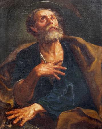PARMA, ITALIEN - 17. APRIL 2018: Das Gemälde von St. Peter der Apostel Kirche Chiesa di San Uldarico von einem unbekannten Künstler.