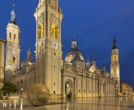 Zaragoza - The cathedral  Basilica del Pilar.