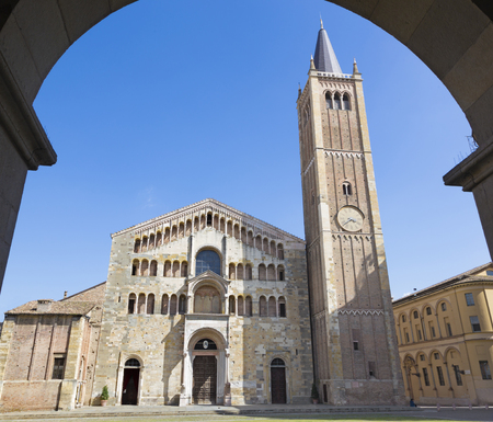 Parma - The Dome - Duomo (La cattedrale di Santa Maria Assunta). Stock Photo