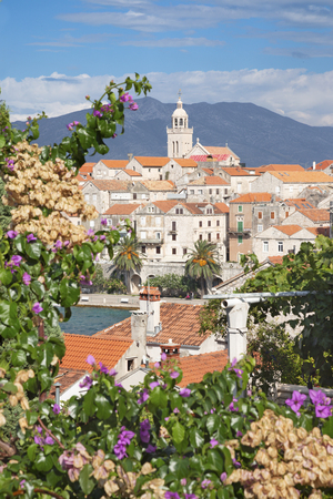 Croatia - The old town of Korcula. Stock Photo