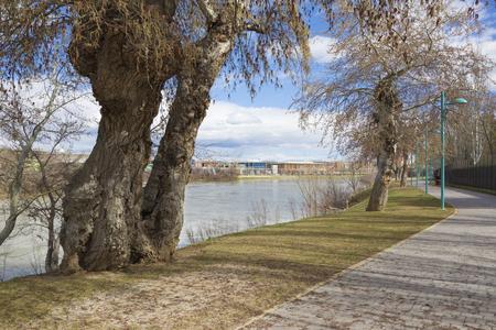Zaragoza - The riverside of Ebro river.