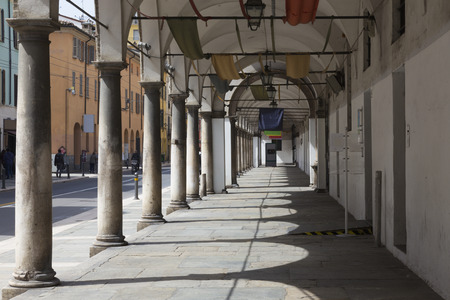 Parma - The porticoes of State archive building.