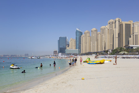 Subai - The Marina hotels from the beach.