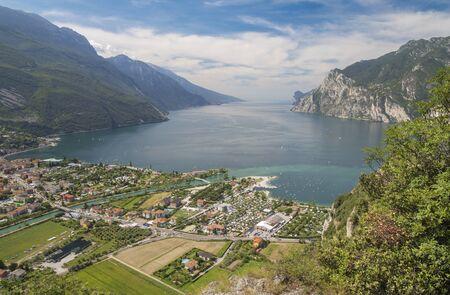 The Torbole with the Lago di Garda lake. Archivio Fotografico