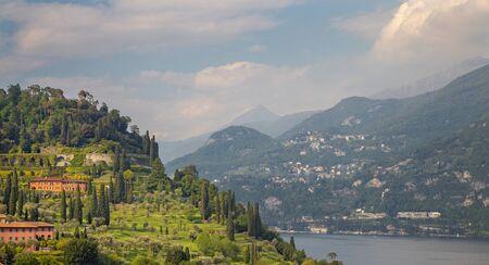 Bellagio - The view from Visignola over the Lago di Como lake.
